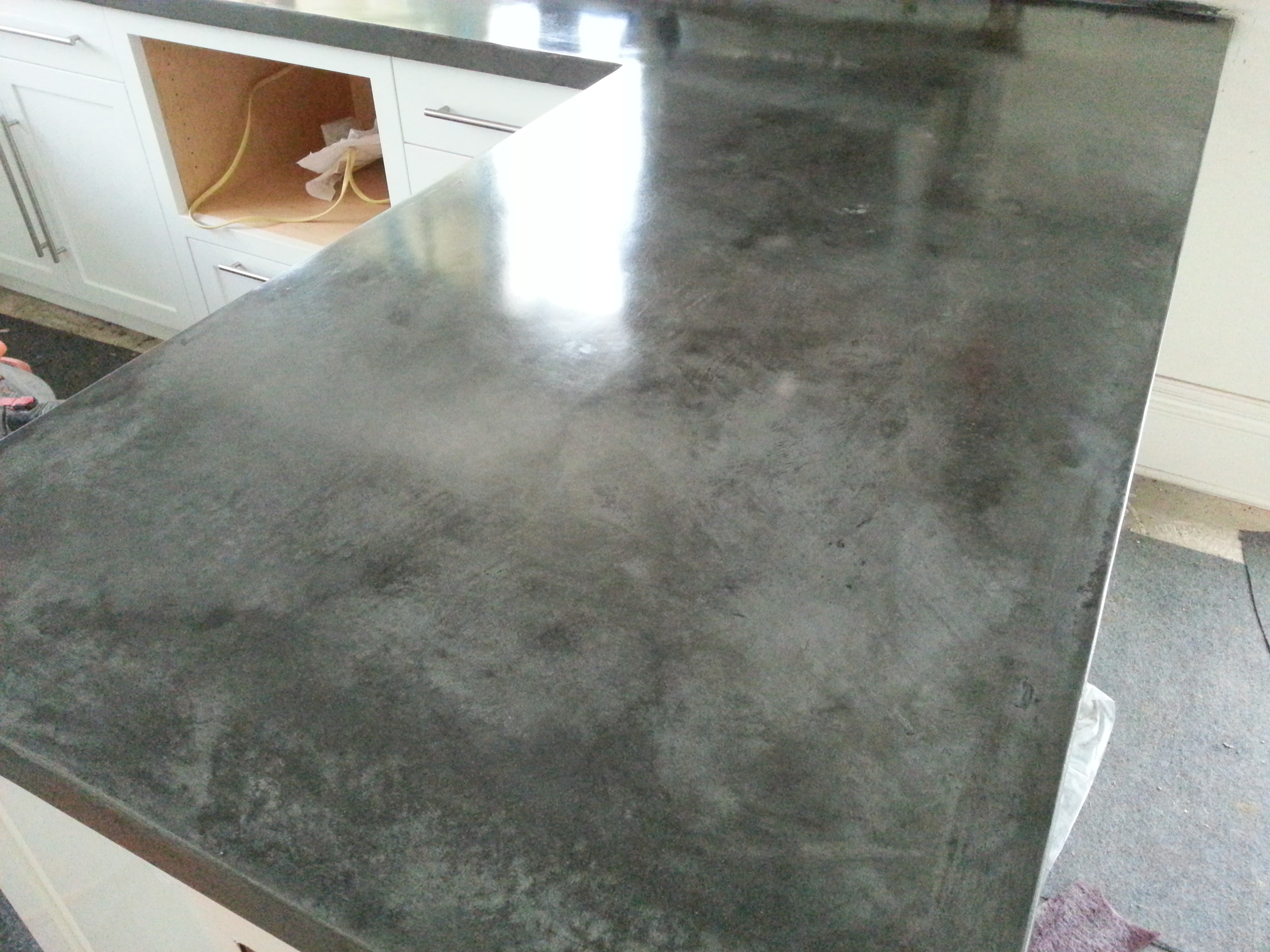 cast in place concrete counter top